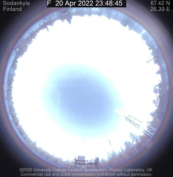 Live all-sky image from camera in Oulu, Finland.