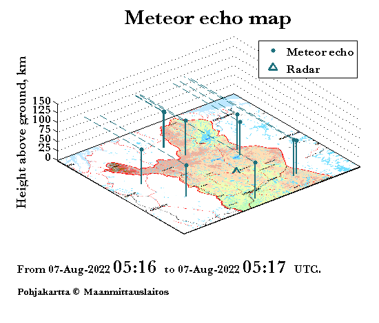 Meteor echo map